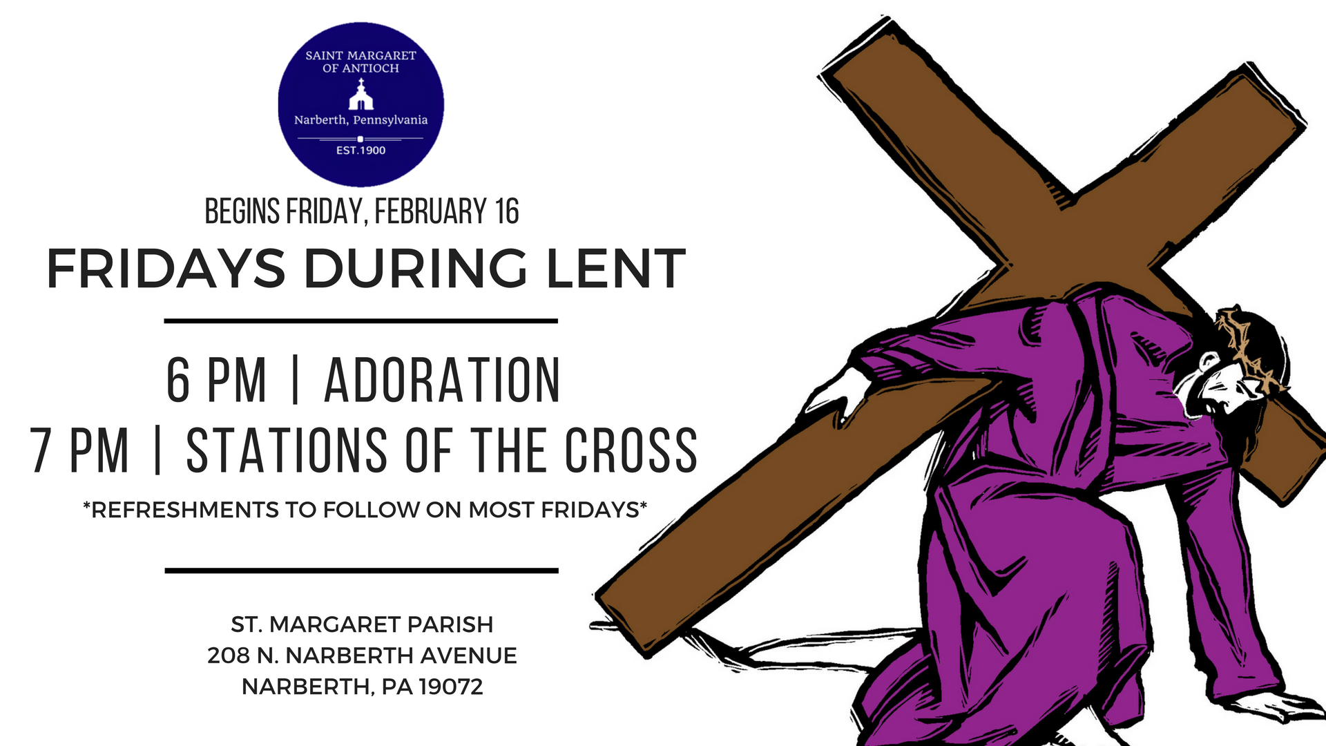 Lenten fridays 2018 facebook event welcome to saint margaret parish lenten fridays 2018 facebook event buycottarizona Image collections